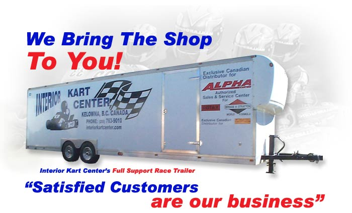 Interior Kart Center's Full Support Go-Kart Race Trailer